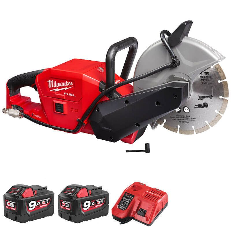 professional red cut off saw with battery