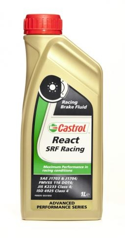 Castrol React SRF Racing Brake Fluid 1 Litre 12512, Ideal for use under arduous braking conditions such as racing or rallying.