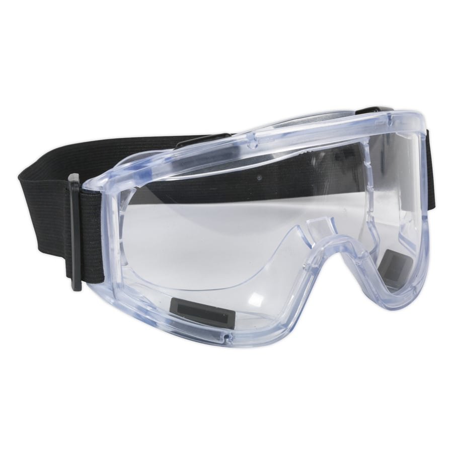Sealey Safety Goggles Indirect Vent BS EN 166 SSP2.00   Designed with a wide-angle curved lens to enhance visibility.   toolforce.ie