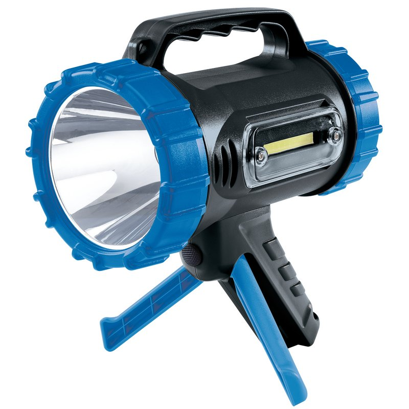Draper Cree LED Rechargeable Spotlight torch with Power Bank and Stand, 10W, 850 Lumens (RLED10/3)