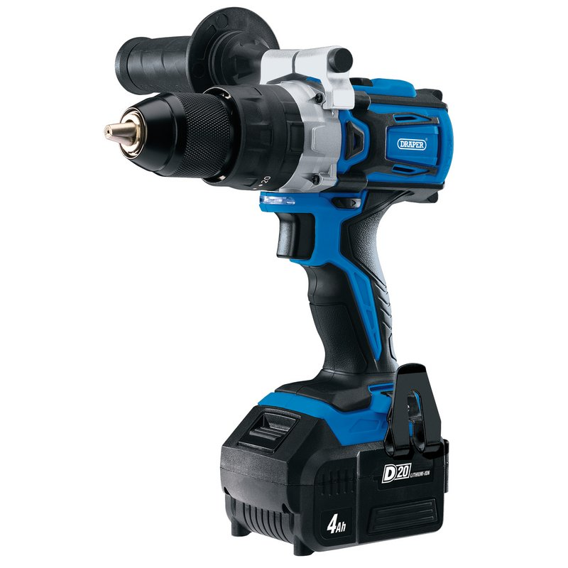 Draper D20 20V Brushless Combi Drill with 1 x 4.0Ah Battery and Fast Charger (D20CD60SET)