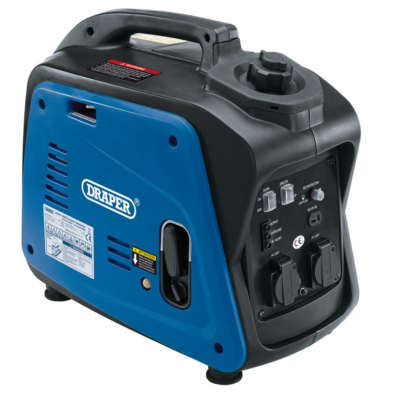 Draper Petrol Inverter Generator, 1700W (DGI2000)   This compact powerful generator is lightweight and portable, fitted with a carry handle.   toolforce.ie