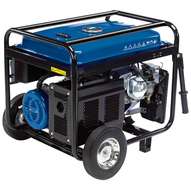 Draper Petrol Generator with Wheels, 2500W (PG28W)   This petrol generator delivers dual voltage output of 230V/110V and 12V DC output.   toolforce.ie