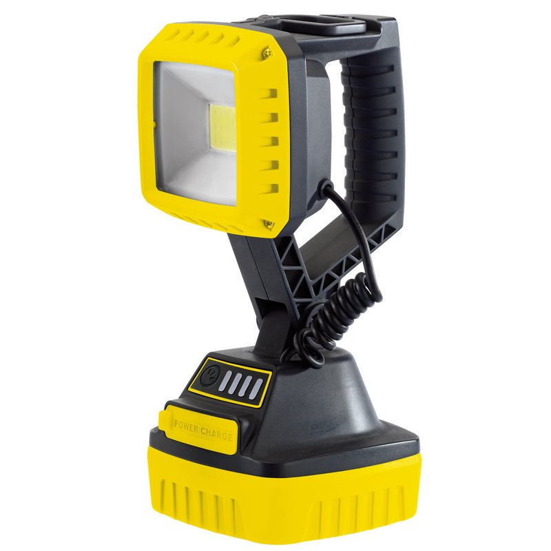 Draper COB LED Rechargeable Worklight, 10W, 1,000 Lumens, Yellow, 4 x 2.2Ah Batteries Supplied (RWL/1000/Y) 90049