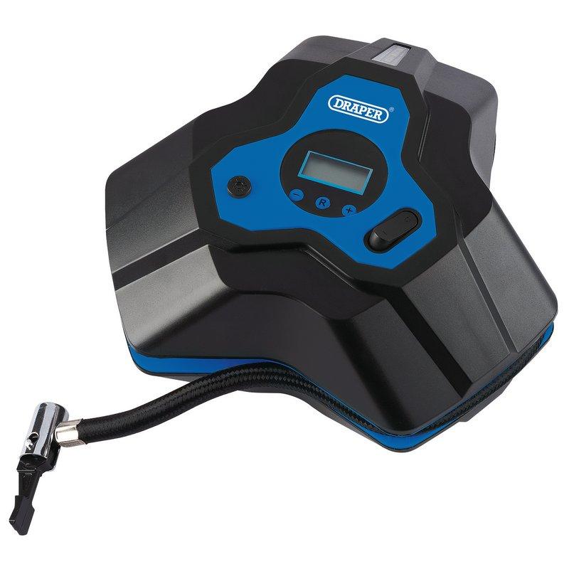 Draper 12V Mini Digital Air Compressor, 150psi (DA12/152) | Digital gauge Air compressor with a digital gauge. | toolforce.ie