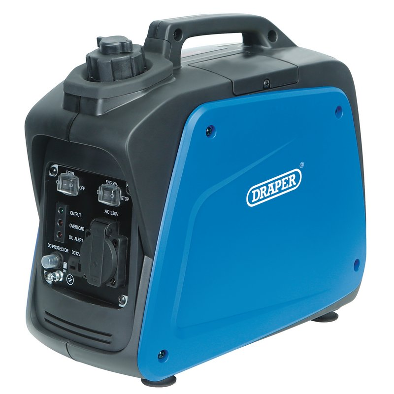 Draper Petrol Inverter Generator, 700W (DGI800DI)   Powerful, light and compact generator, fitted with a carry handle.   toolforce.ie
