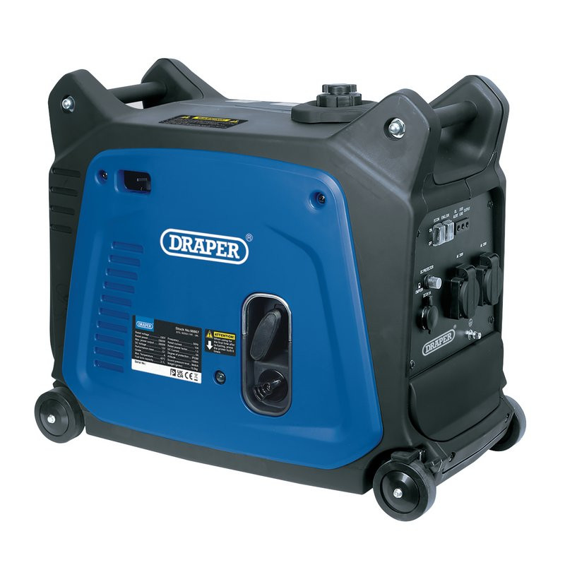 Draper Petrol Inverter Generator, 2300W 2.3kva. Suitable for powering your home or business. One of a range of electric generators for sale on Toolforce.ie