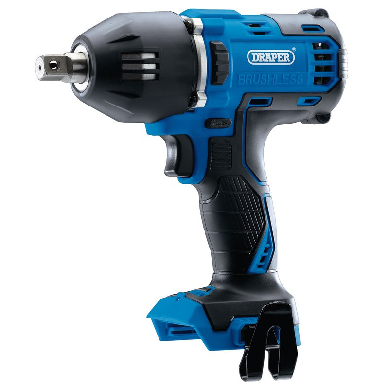 """Draper D20 20V Brushless Mid-Torque Impact Wrench, 1/2"""" Sq. Dr., 400Nm (Sold Bare) (D20IW400/2)"""