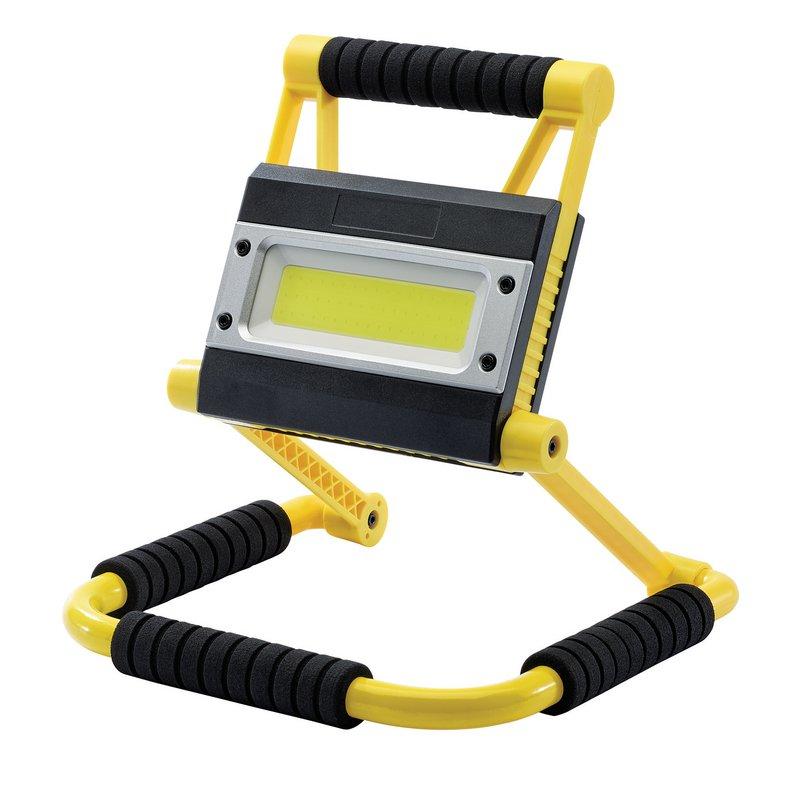 Draper COB LED Rechargeable Folding Worklight and Power Bank, 20W, 750 - 1,500 Lumens (RWL20PB) 99707