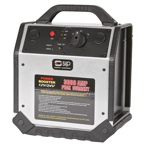 SIP Professional Booster 12/24v Rescue Pack 3000 03937 | Reverse hook-up alarm and indication | Automatic circuit overload protection | toolforce.ie