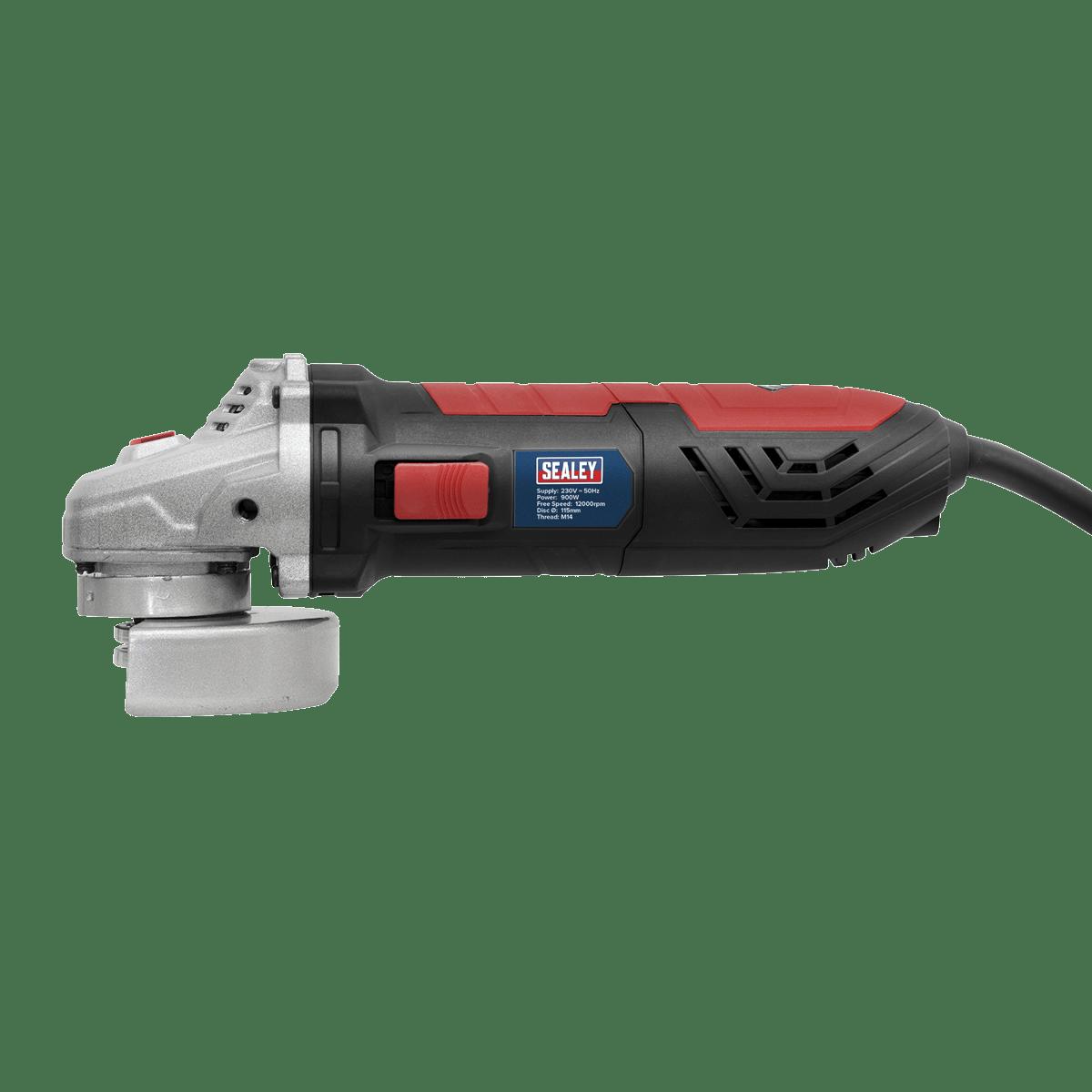 """Sealey Angle Grinder Ø115mm 4.5"""" 900W/230V SAG115"""