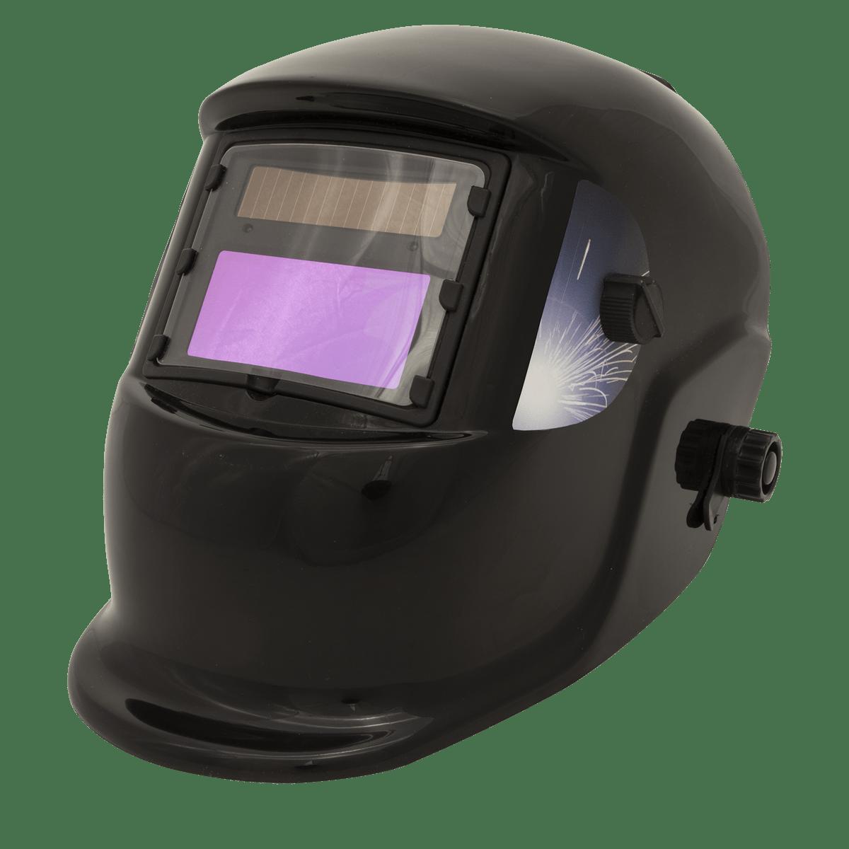 Sealey Welding Helmet Auto Darkening - Shade 9-13 S01001   Welding helmet with infinitely adjustable shade control between 9-13.   toolforce.ie