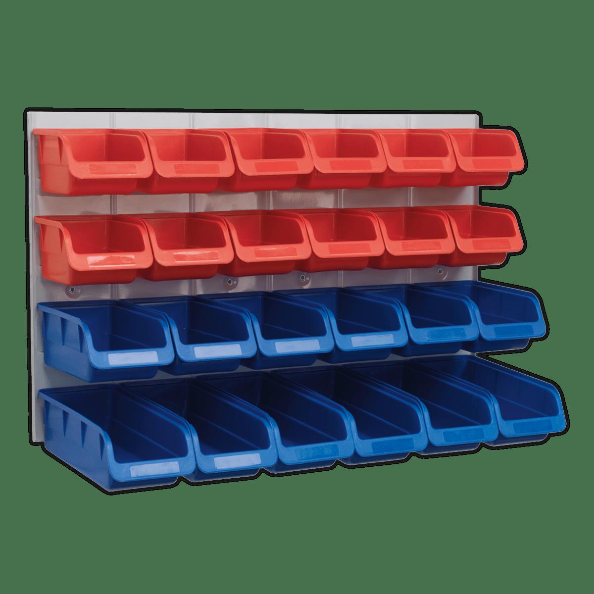 Sealey Bin & Panel Combination 24 Bins - Red/Blue TPS132
