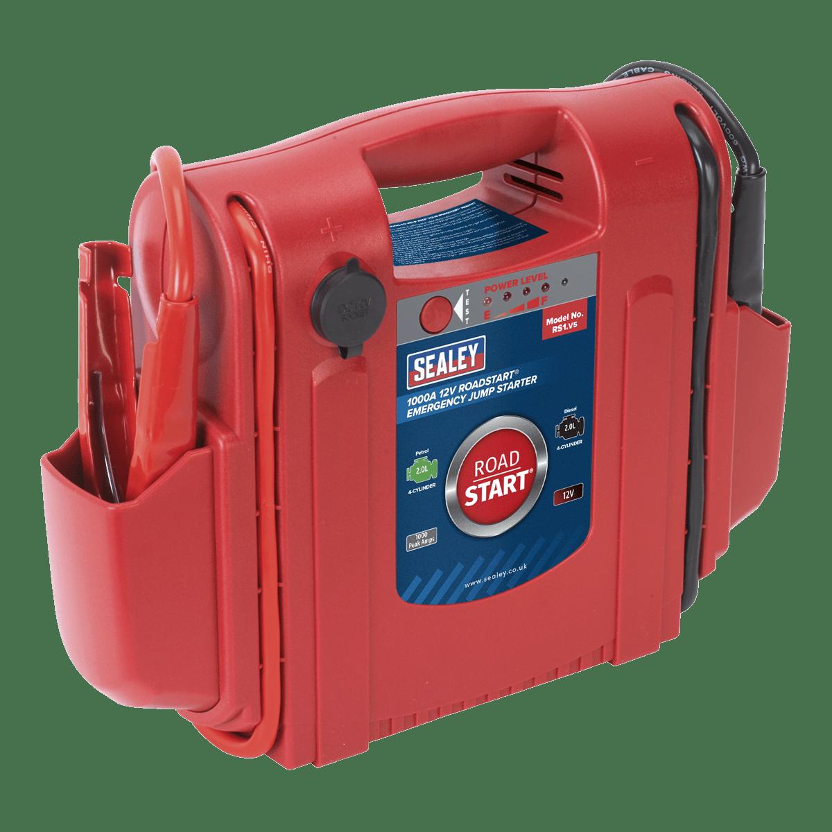 Sealey RoadStart® Emergency Jump Starter 12V 1000 Peak Amps RS1