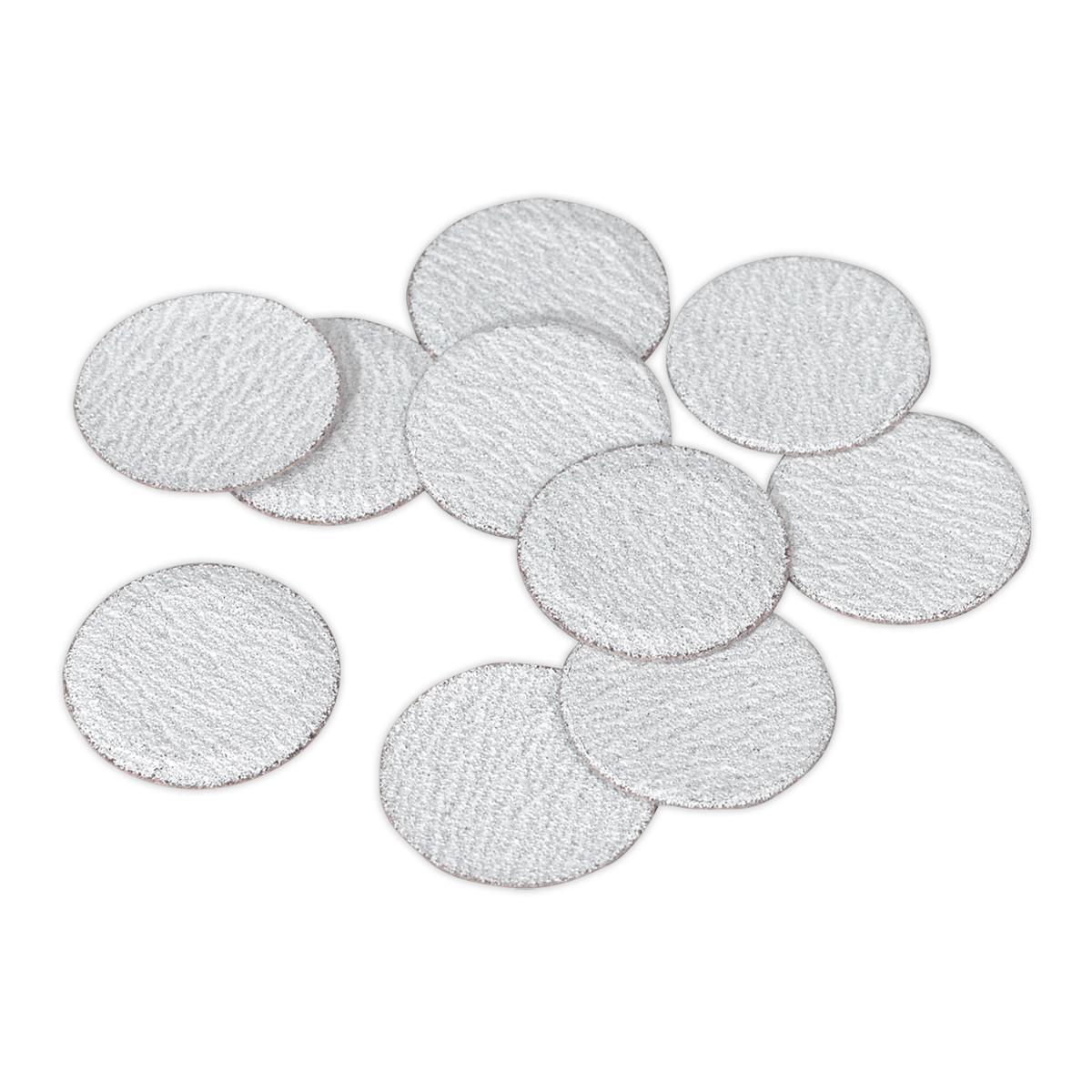 Sealey Sanding Disc Ø50mm 60Grit Pack of 10 SA701D60G   Hook-and-loop sanding discs for use with Sealey and other makes of mini air sanders.   toolforce.ie