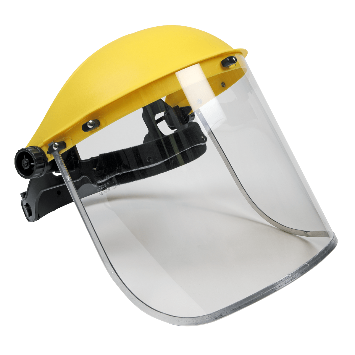 Sealey Brow Guard & Full Face Shield SSP11E   BS EN 166, Optical Class 1, Impact Grade B - Ratchet adjustable headband with brushed nylon comfort band.   Toolforce.ie