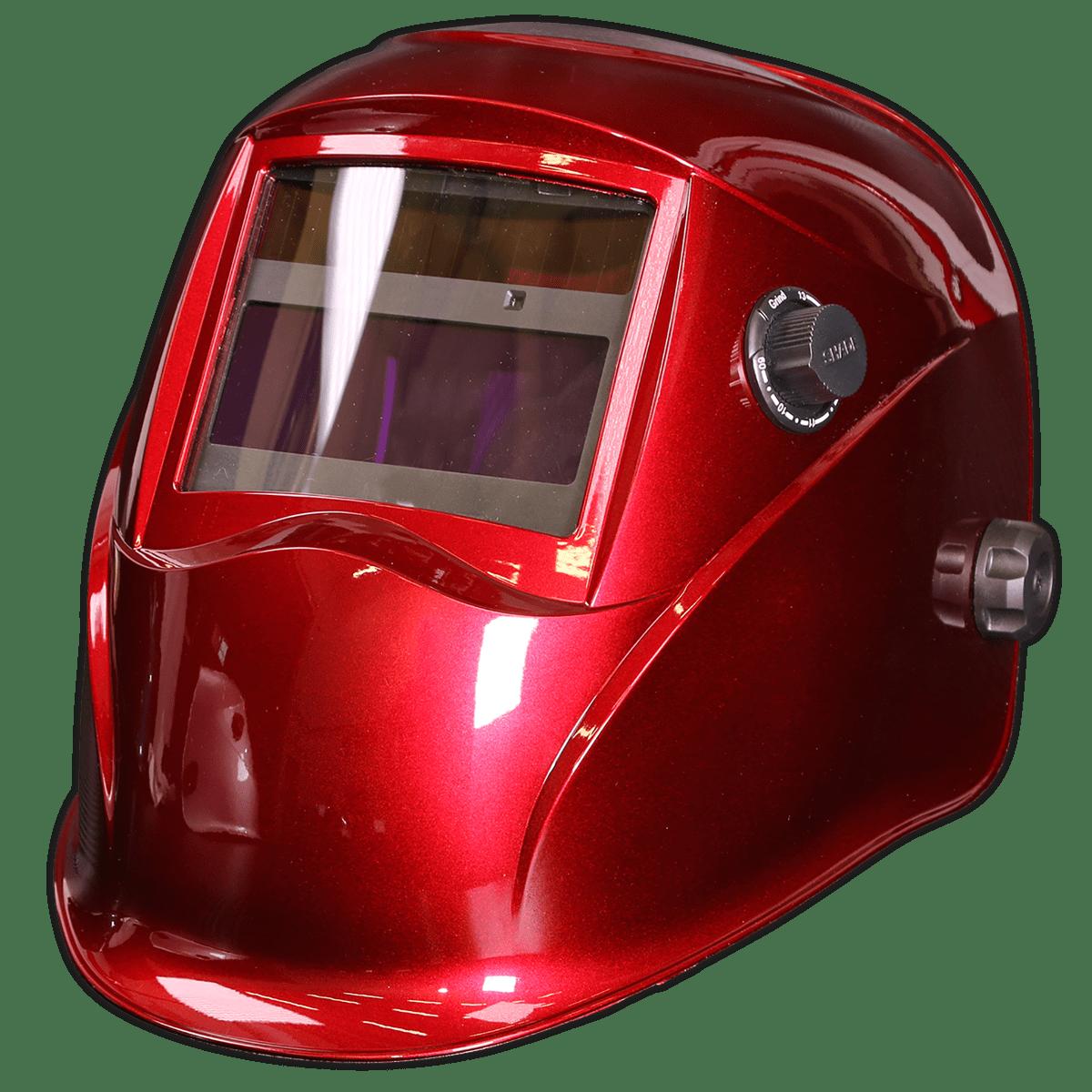 Sealey Welding Helmet Auto Darkening - Shade 9-13 - Red PWH612   Welding helmet with infinitely adjustable shade control between 9-13.   toolforce.ie