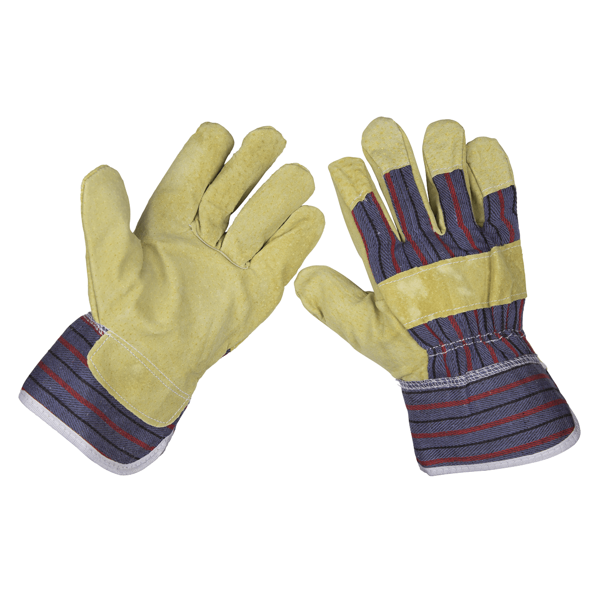 Sealey Rigger's Gloves Pair SSP12   Strong stitching, a generous fit and quality materials make this an ideal glove for general purpose trade use.   toolforce.ie