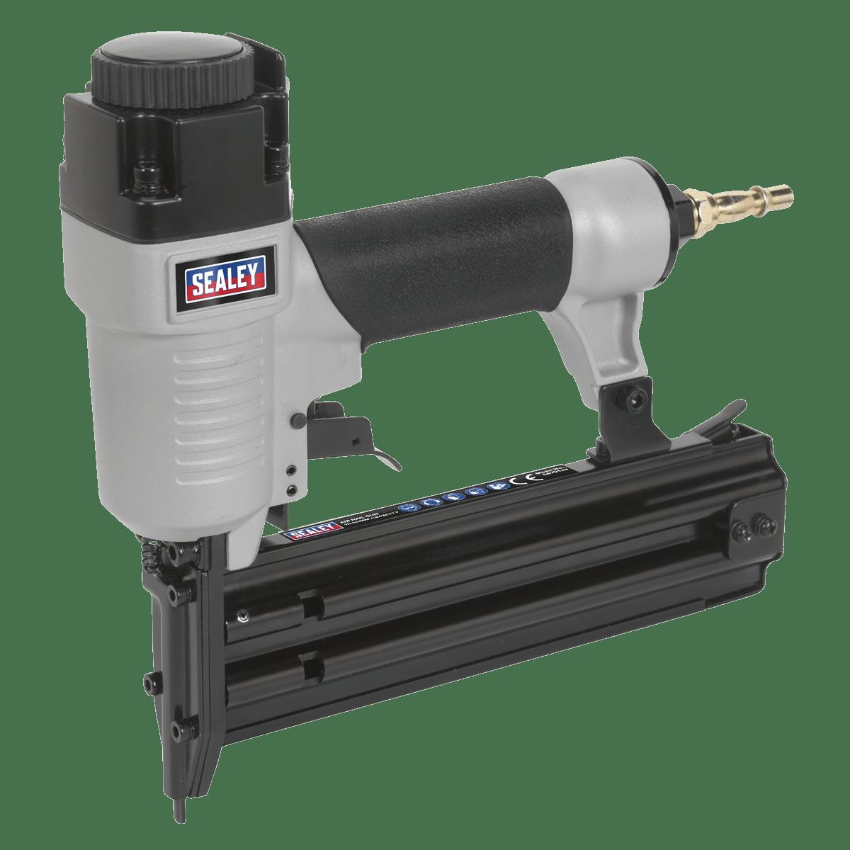 Sealey Air Nail Gun 10-50mm Capacity SA791   Professional air nail gun with lightweight aluminium body and rubber grip handle.   toolforce.ie