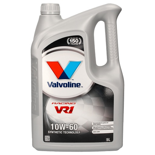 VALVOLINE 10W60 VR1 Racing Motor Oil 5L, Additional additives resist extreme operating conditions during rallying and racing.