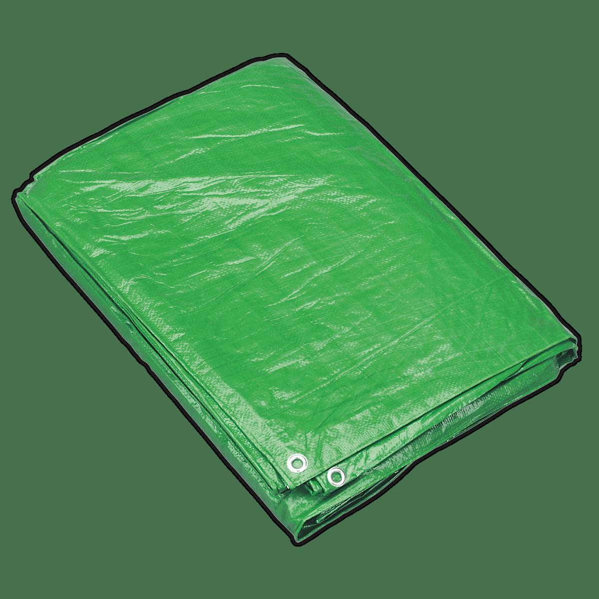 Sealey Tarpaulin 3.66 x 4.88m Green TARP1216G