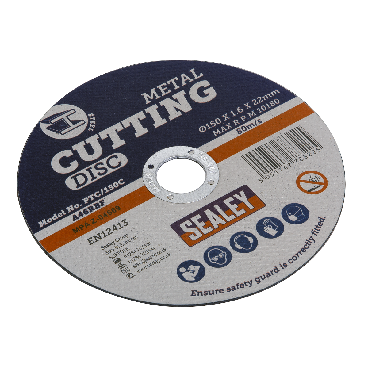 Sealey Cutting Disc Ø355 x 3mm Ø25.4mm Bore PTC/355C   General purpose flat stone cutting disc recommended for use with Sealey and other leading makes of grinding and cutting power tools.   toolforce.ie