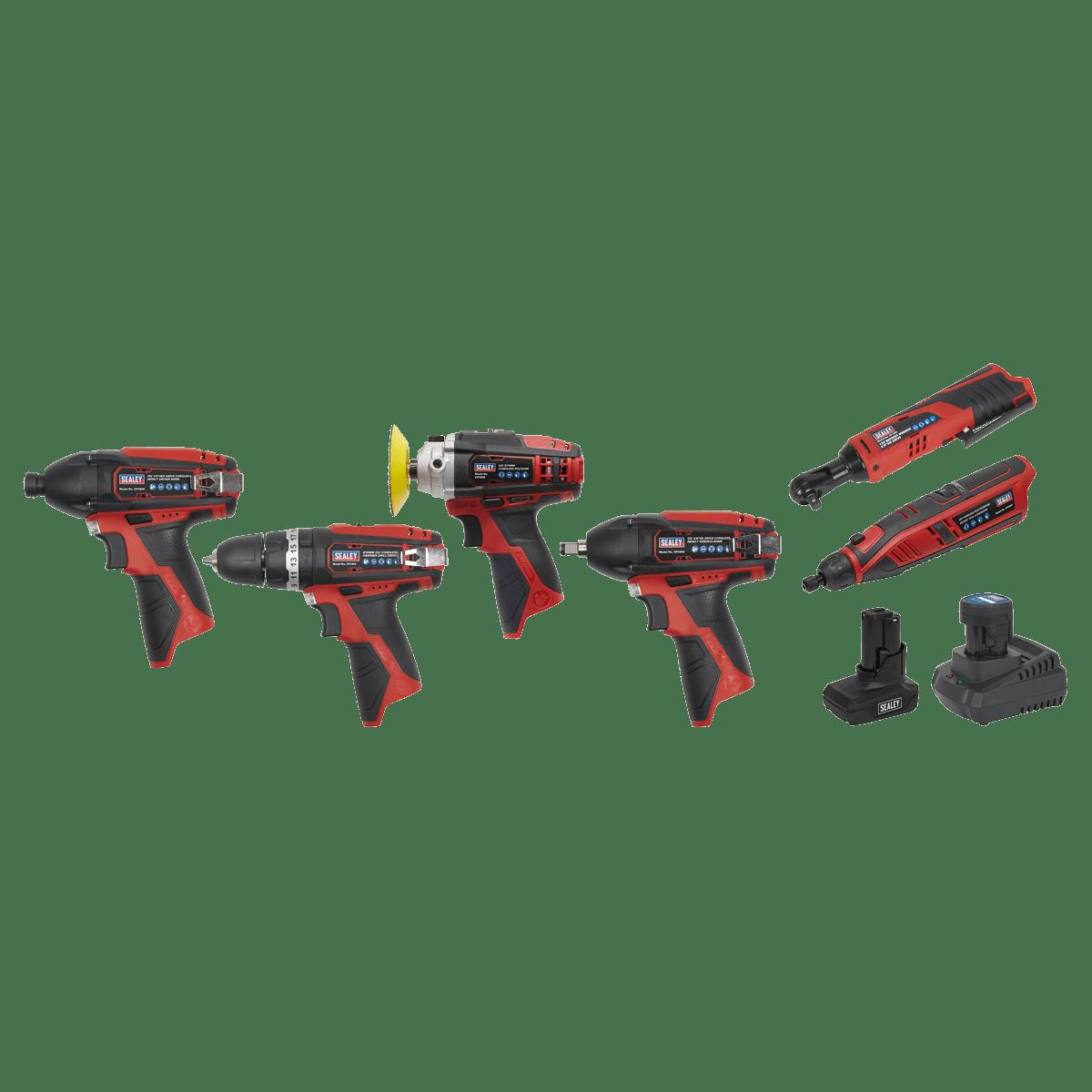 Sealey SV12 Series 6 x 12V Cordless Power Tool Combo Kit CP1200COMBO2