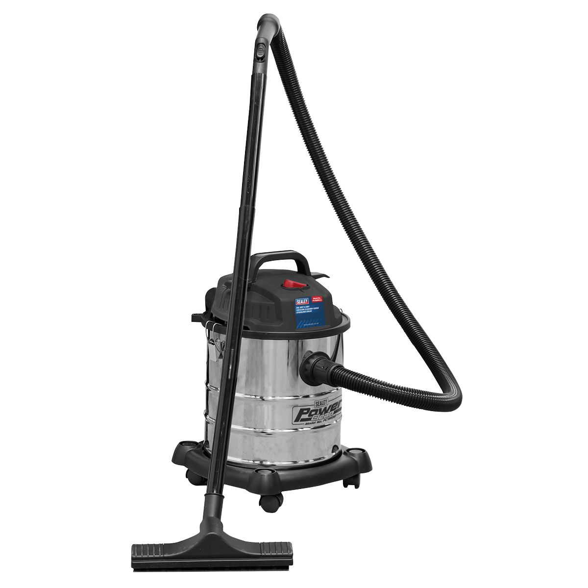 Sealey Vacuum Cleaner Wet & Dry 20L 1200W/230V Stainless Drum PC195SD | High powered, lightweight unit with blower facility. | toolforce.ie