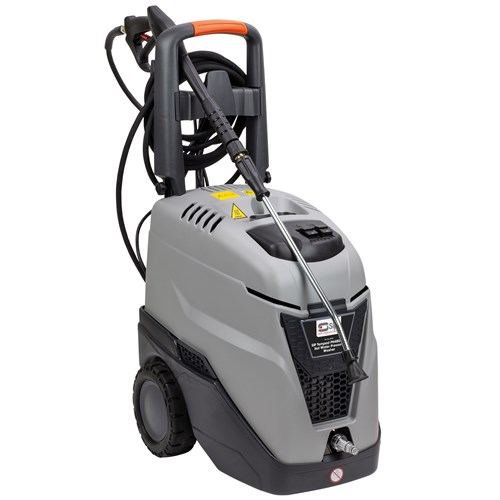 SIP Professional Tempest Hot Water Pressure Washer PH480/150, has 90°C hot water via a diesel-fired boiler and a heavy-duty COMET brass-headed Axial plunger pump with 3 vertical axial pistons.