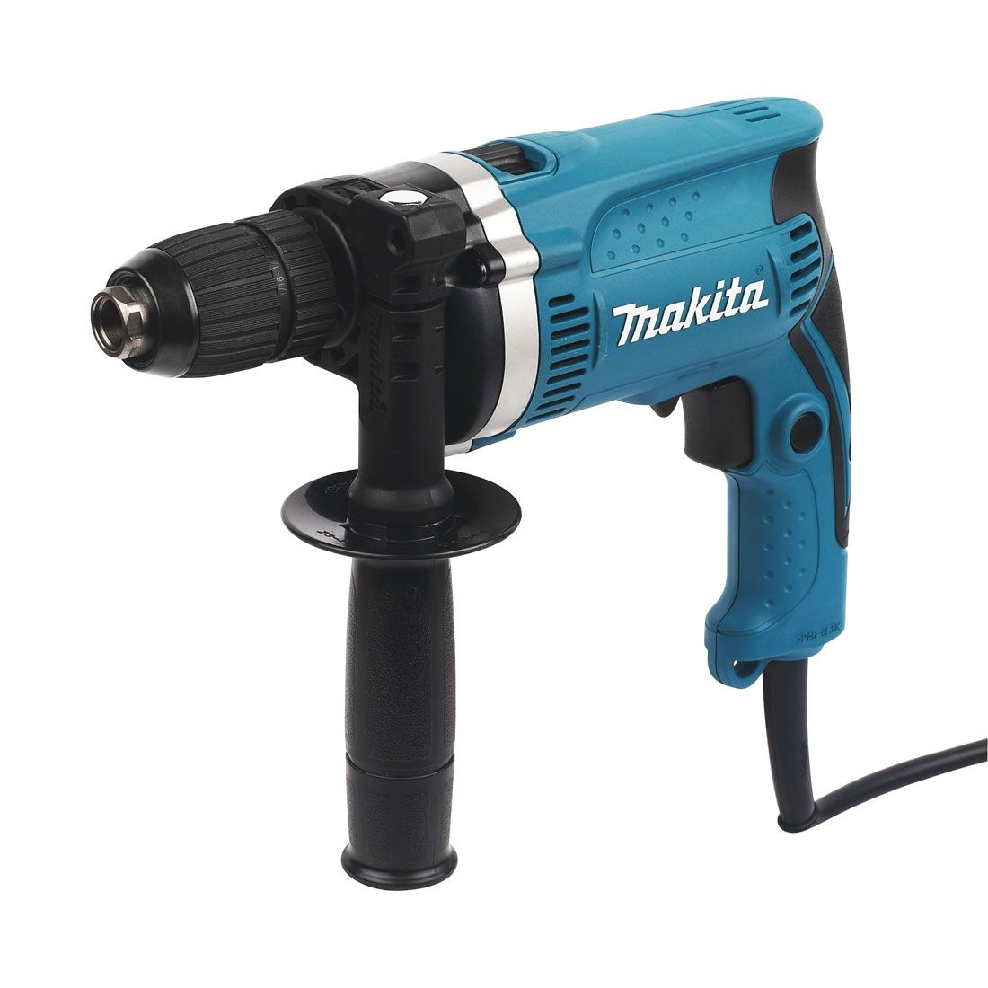 Makita Single Speed Impact Drill 240v MAKHP1641 | It has a cylinder-shaped motor housing and aluminium gear housing cover to provide high performance. | toolforce.ie