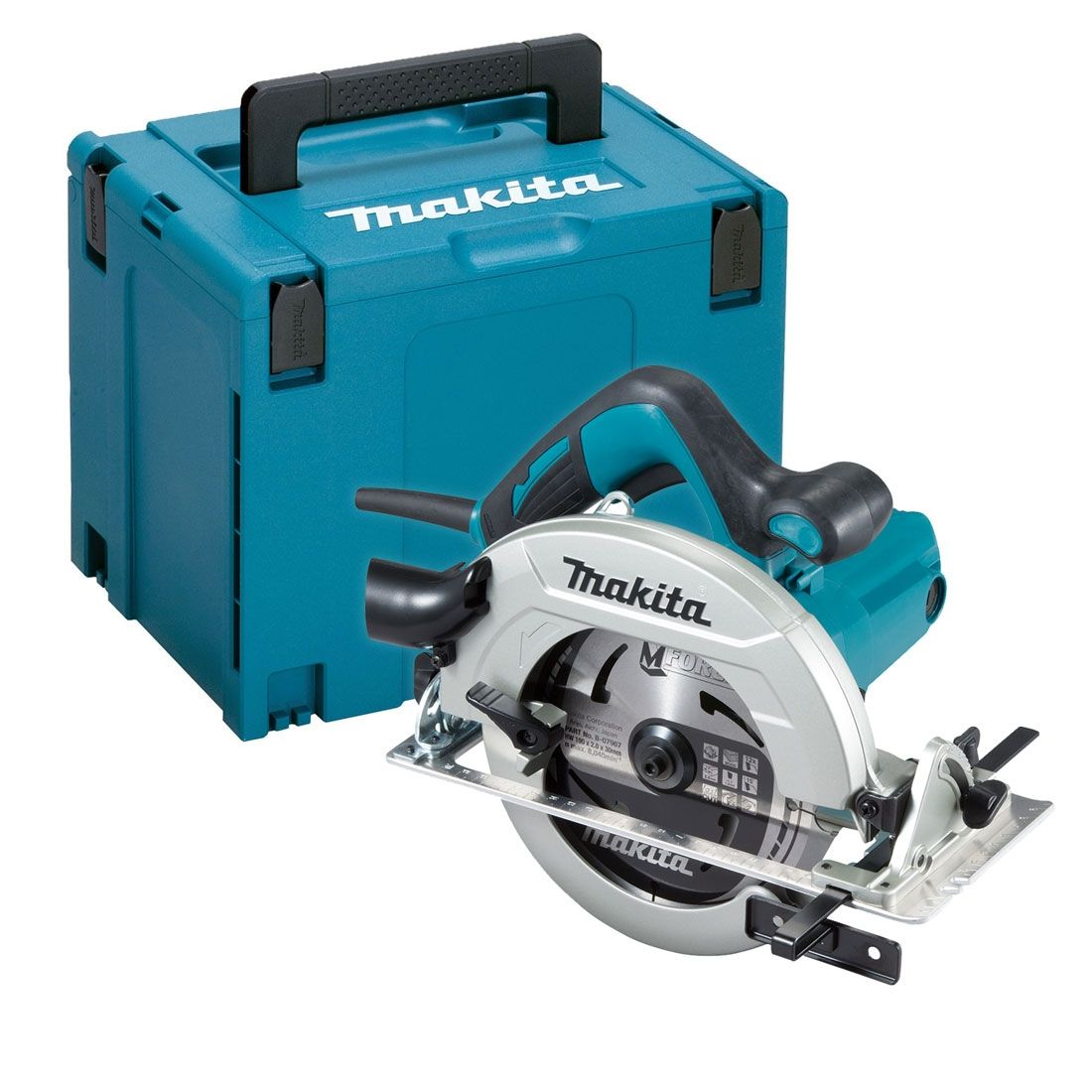 Makita 190mm 1600w Circular Saw 240v MAKHS7611J   Rear dust exhaust port exhausts sawdust backward preventing it from scattering around   toolforce.ie
