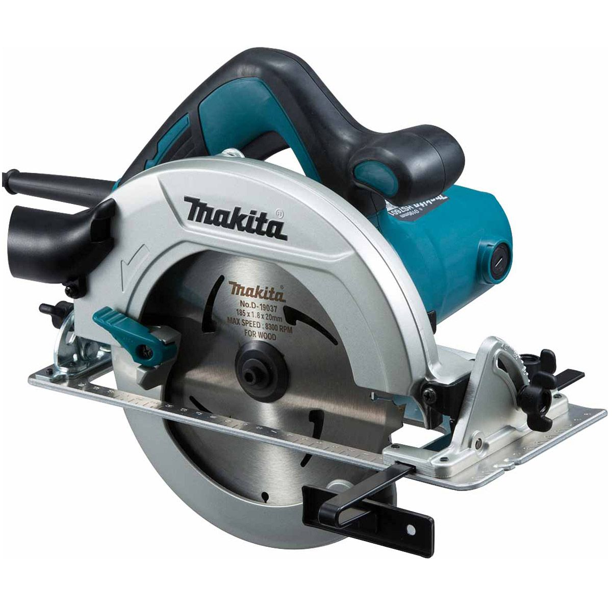 Makita 190mm 1600w Circular Saw 110v MAKHS7611JL   Rear angular guide for smooth and precise adjustment of bevel angle   toolforce.ie