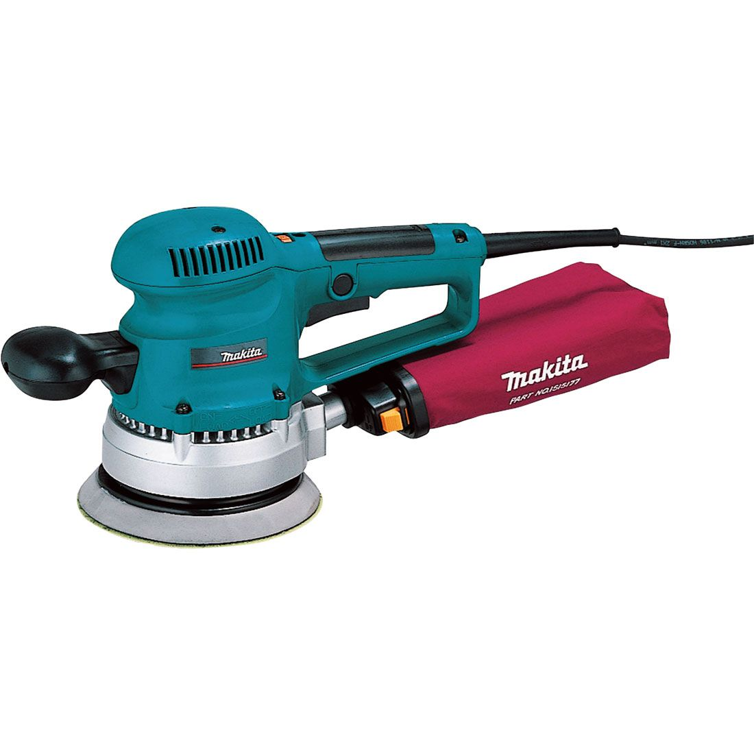 Makita 150mm Random Orbit Sander 240v MAKBO6030 | This gives a variety of gripping positions to relieve fatigue. | toolforce.ie
