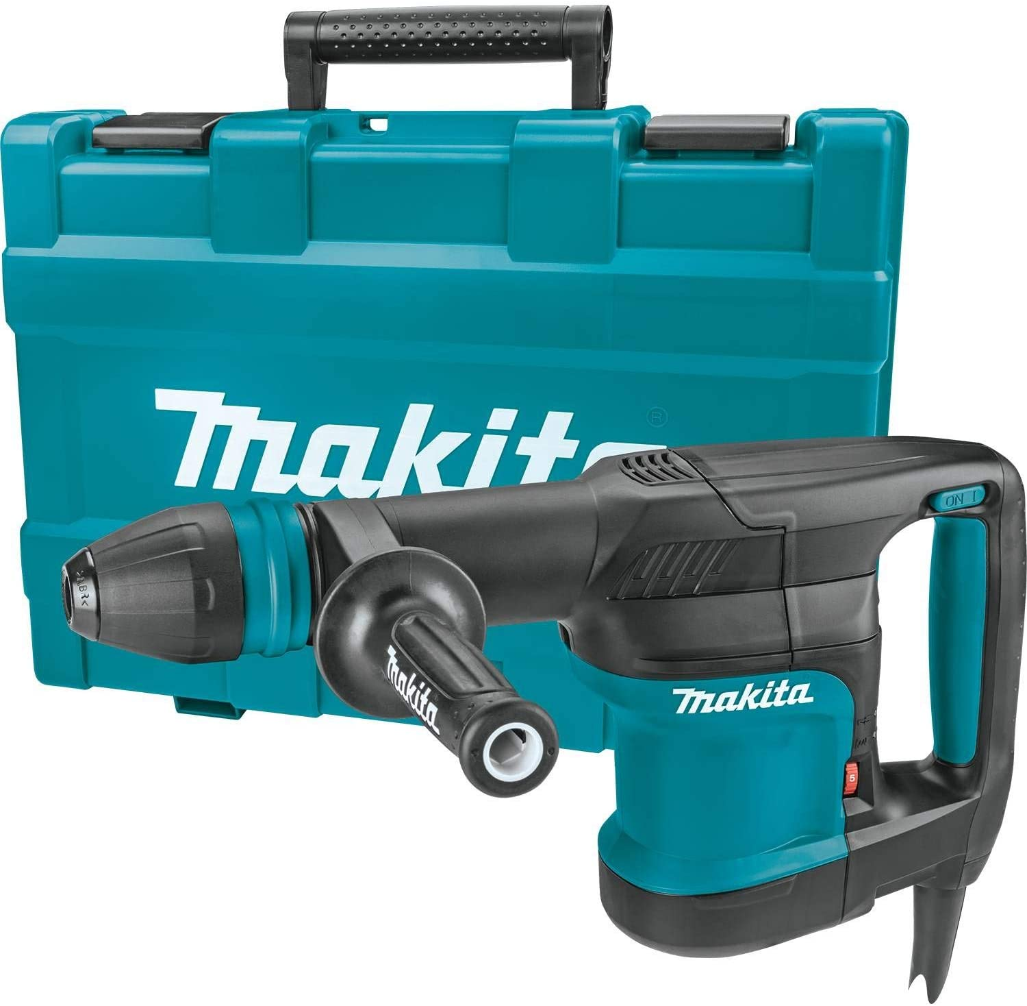 Makita 5kg Sds-max Chipping Hammer 110v MAKHM0870CL | LED lamp indicates when to replace carbon brush | toolforce.ie