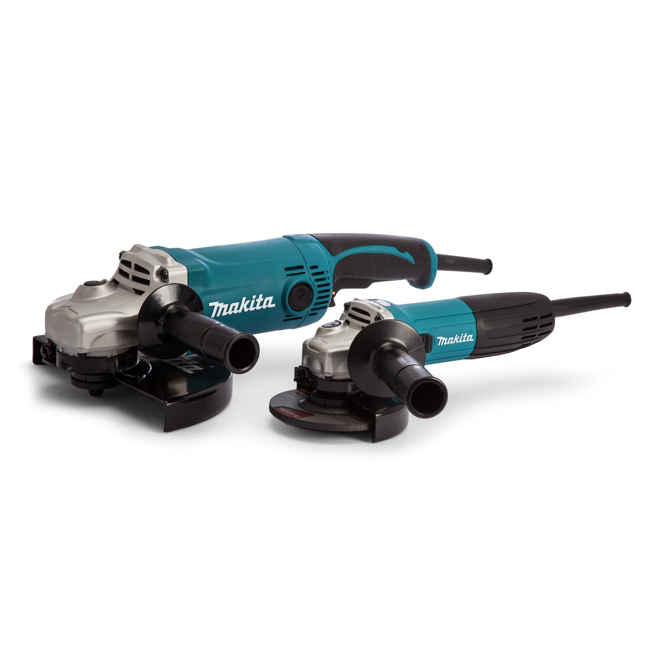 Makita Grinder Twin Pack 240v MAKDK0056Z1/2 | GA4530R 115mm | GA9050 230mm | toolforce.ie