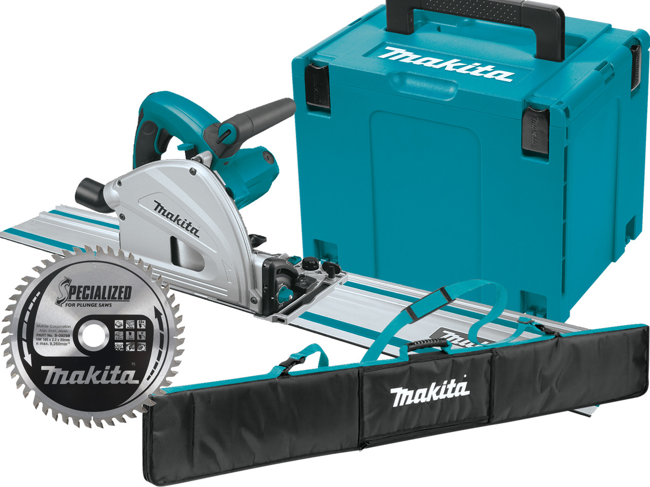 makita plunge saw kit with guide rails