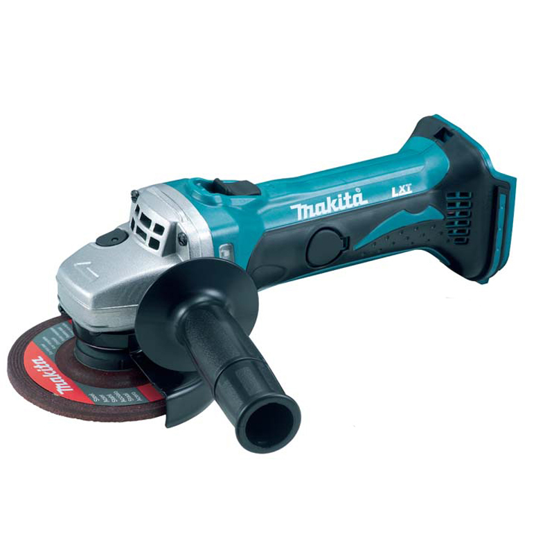 Makita 18v Angle Grinder (Body only) MAKDGA452Z | Makita DGA452Z LXT Lithium Ion Cordless Angle Grinder 18v (naked) complete with lock nut wrench, side handle and abrasive wheel. | toolforce.ie