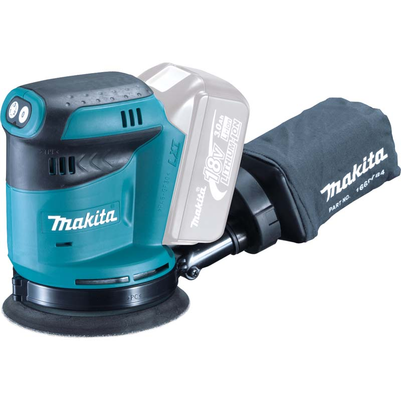 """Makita 18v 5"""" R/orbit Sander (Body Only) MAKDBO180Z 