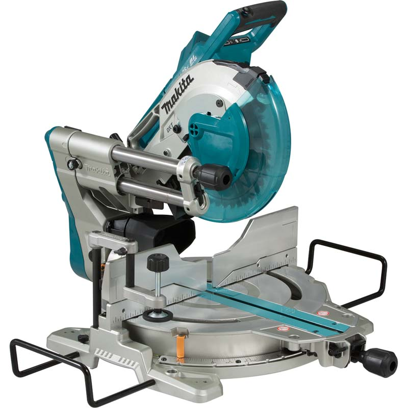 Makita Twin 18v 260mm Sliding Mitre Saw (Body Only) MAKDLS110Z   Brushless DC motor with high power to weight and size ratio   toolforce.ie