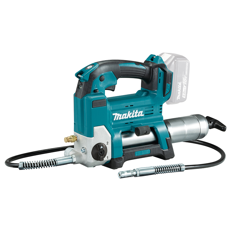 Makita 18v Grease Gun (Body Only) MAKDGP180Z   The Auto Speed mode varies the flow rate of the grease to automatically match the resistance of the surface.   toolforce.ie