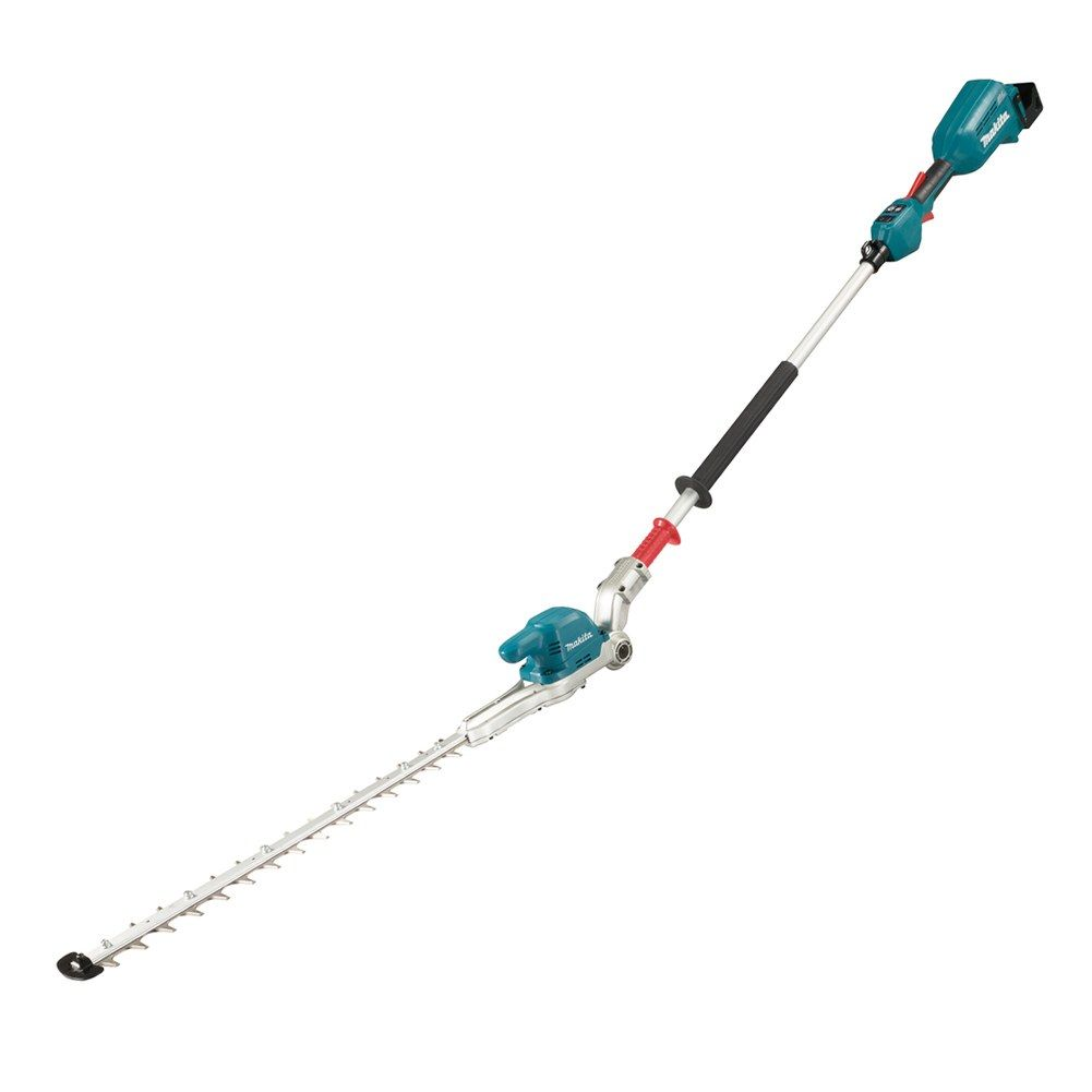 Makita 18v Pole Hedgetrimmer 50cm (Body Only) MAKDUN500WZ   The curved blade design reduces friction which in turn suppresses energy loss and increase run times.   toolforce.ie