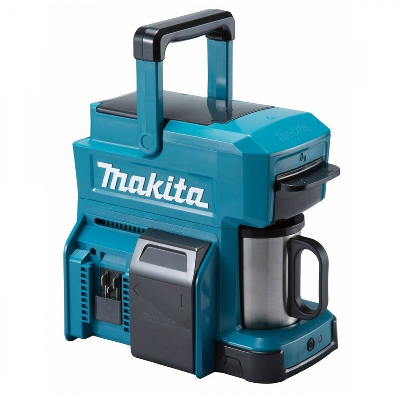 Makita 18v Cordless Coffee Maker Body (Red) MAKDCM501Z | Perfect for anyone who loves freshly brewed coffee - it will deliver the aroma of freshly brewed coffee to the job site, campsite or wherever you are. | toolforce.ie