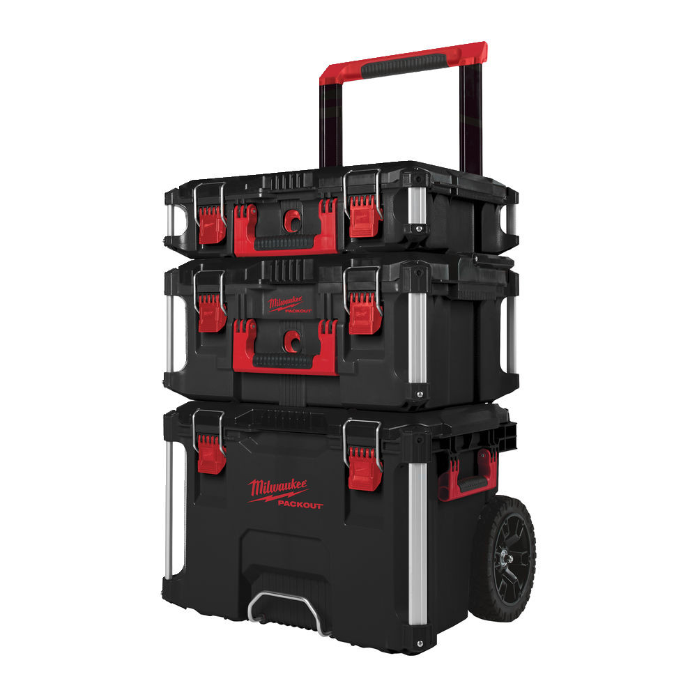 Milwaukee 3 Piece Packout Toolbox Storage System 4932464079