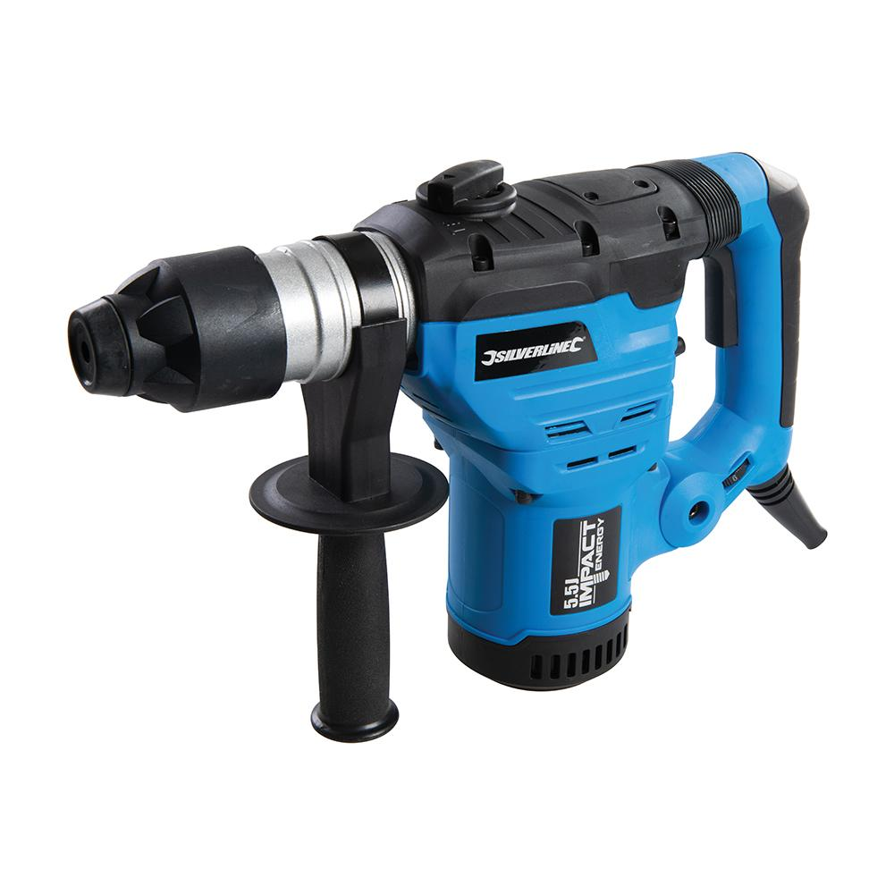 Silverline 1500W SDS Plus Drill 268819, 3 Modes: Drill, hammer drill & roto-stop chisel | Toolforce