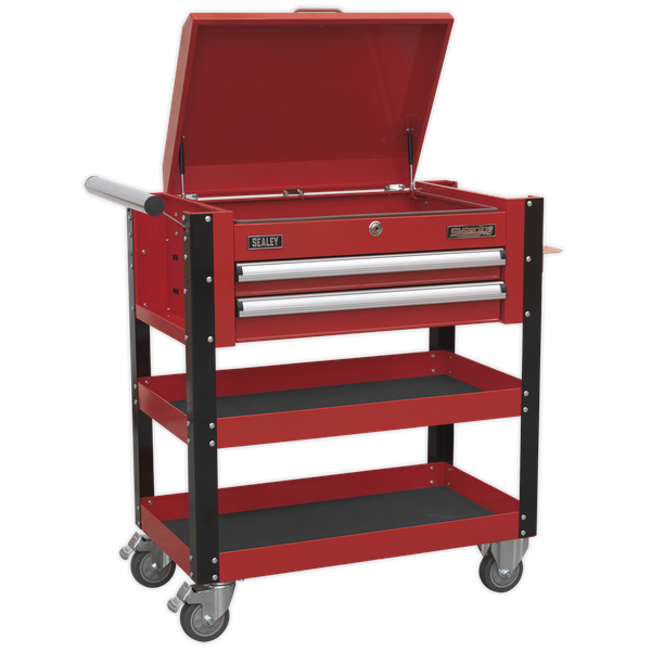 SEALEY Mobile Tool & Parts Trolley with Lockable Top AP760M | 40 kg capacity drawers contain ball bearing slides | toolforce.ie