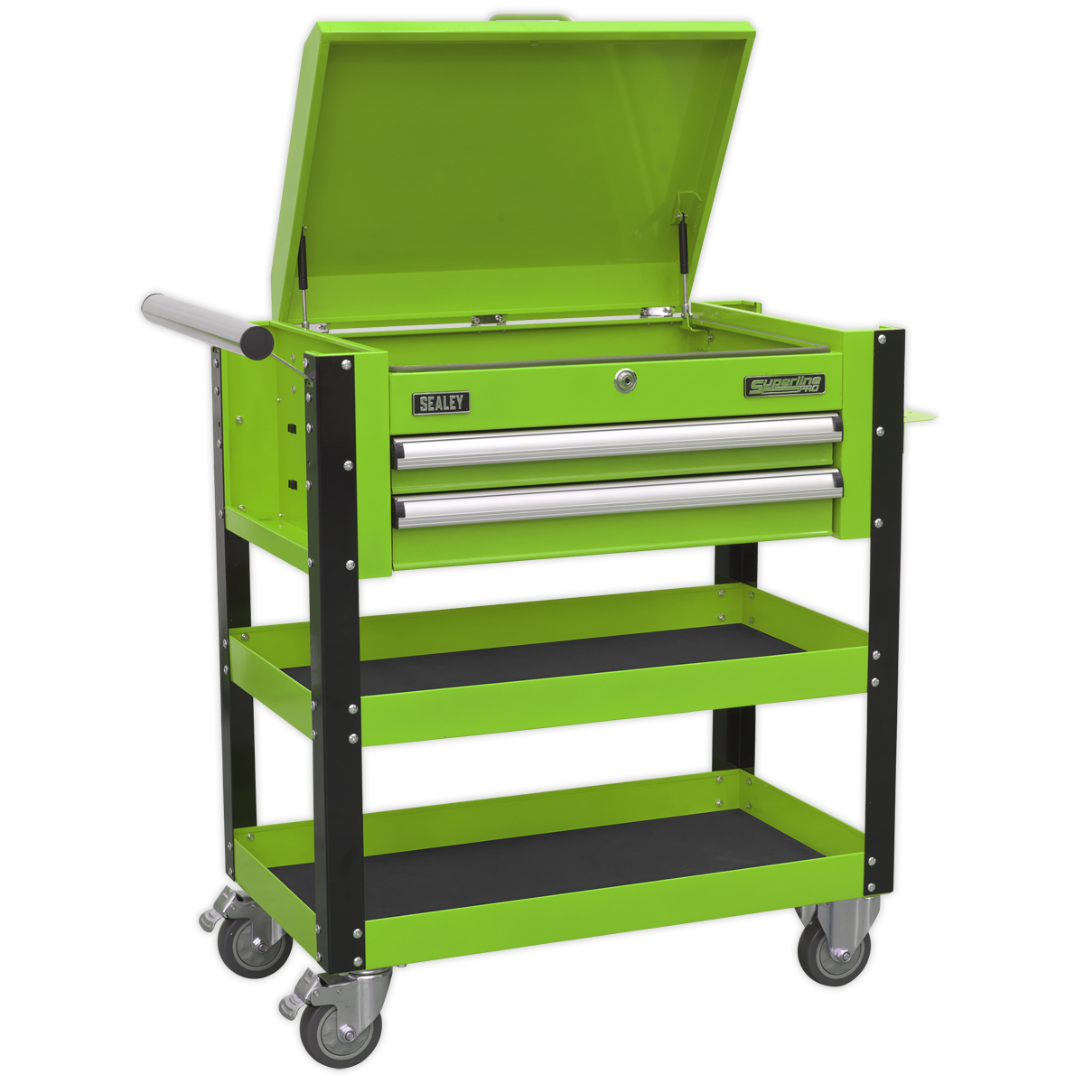SEALEY Mobile Tool & Parts Trolley with Lockable Top AP760MHV | 40 kg capacity drawers contain ball bearing slides | toolforce.ie