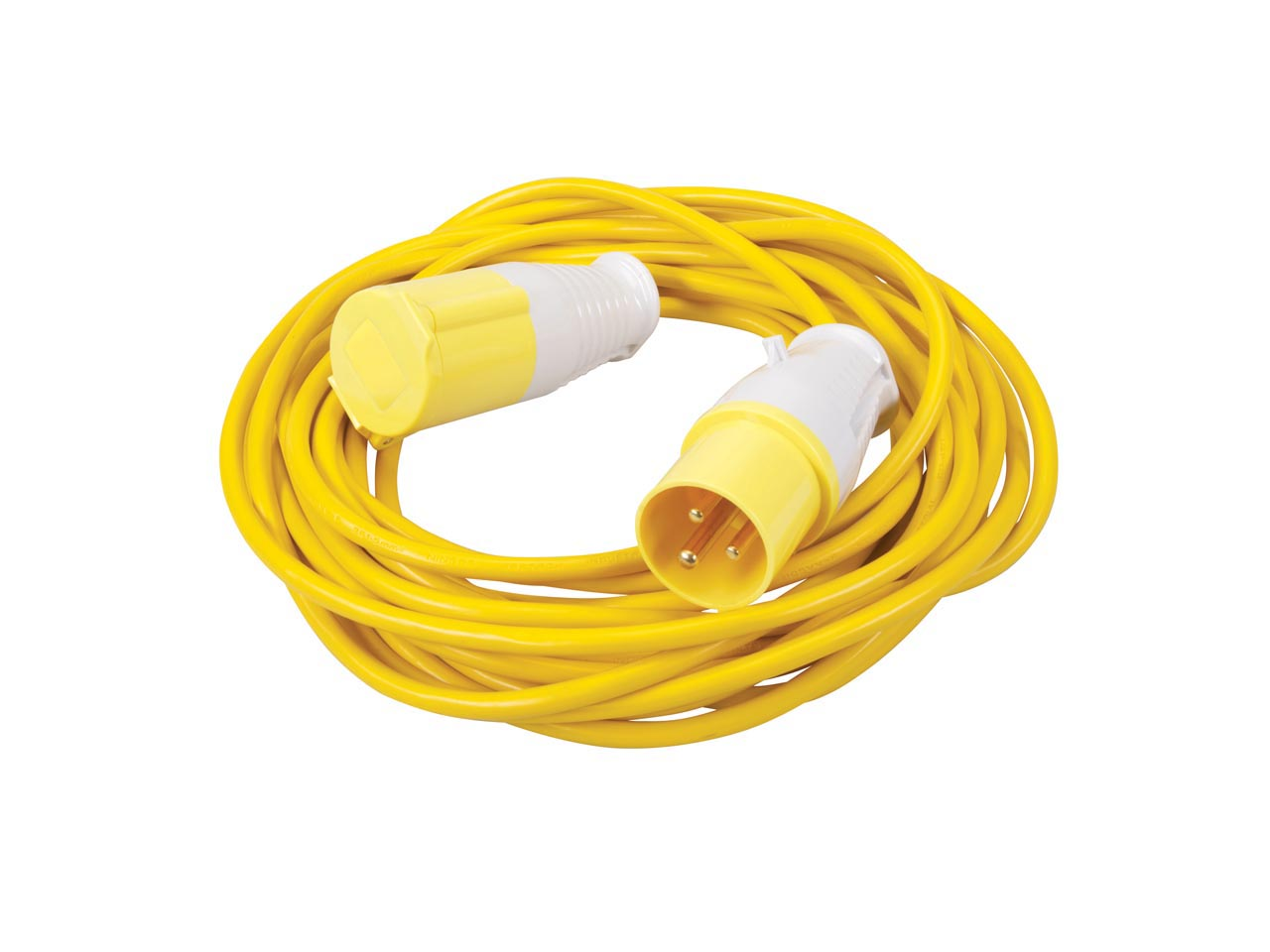 Power Master Extension Lead 16A 110V 10M 475654, 3 pin 10 metre long heavy duty extension lead.