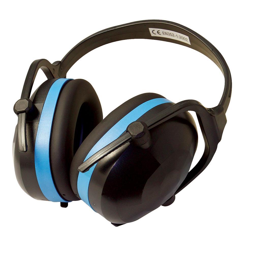 Silverline Folding Ear Defenders SNR 30dB 633816, Soft foam-filled ear cushions for prolonged use.