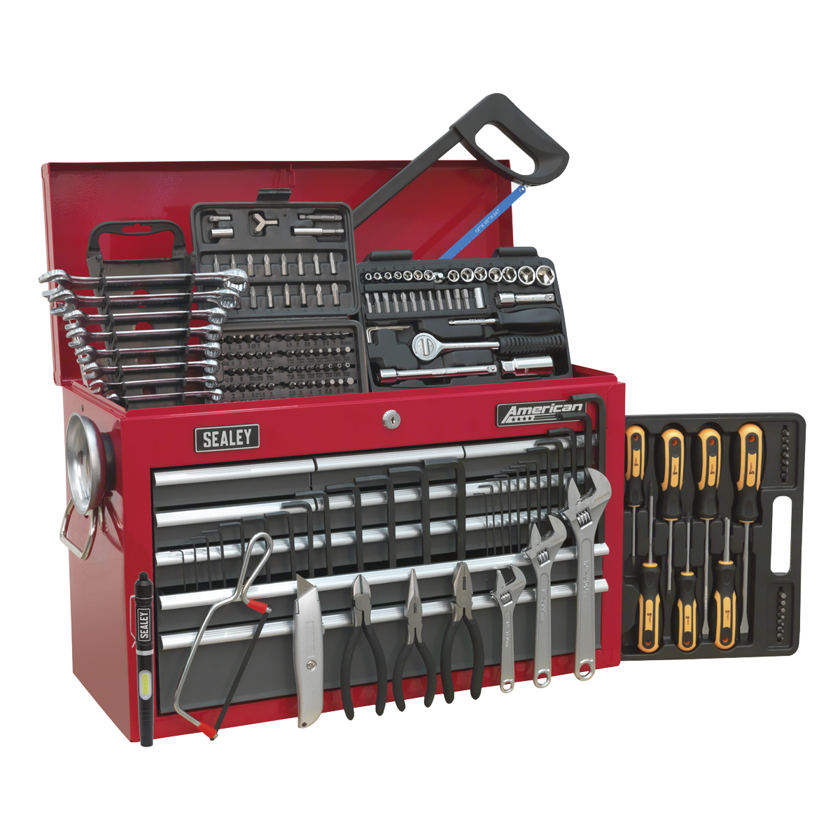 American PRO® 9 Drawer Topchest Part Number AP22509BB with 204pc Tool Kit.