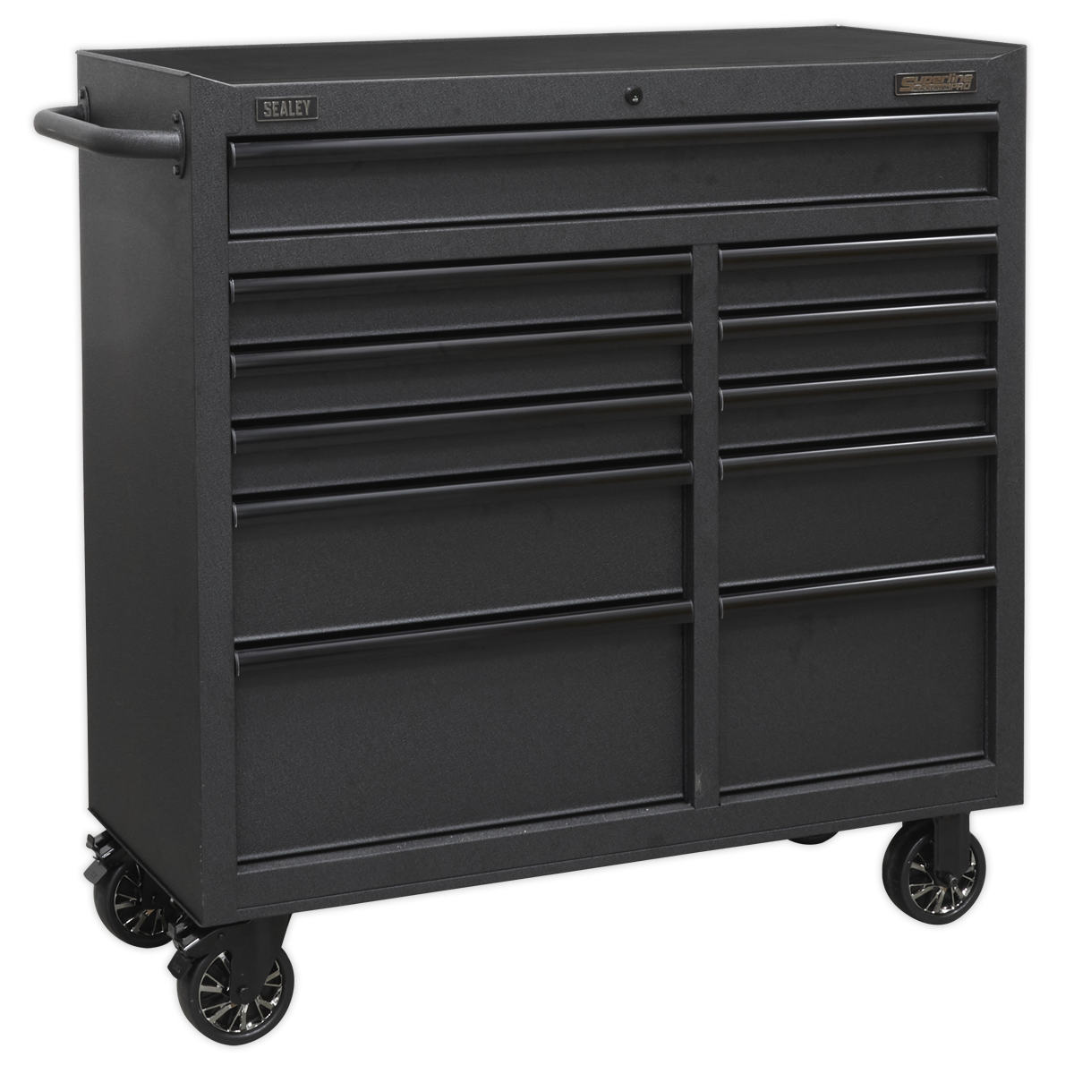Sealey Rollcab 11 Drawer 1040mm with Soft Close Drawers AP4111BE | All heavy-duty steel construction and manufactured with steel inner walls for extra strength and durability. | toolforce.ie
